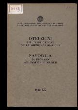 Navodila za uporabo anagrafičnih določb<br />Istruzioni per l'applicazione delle norme anagrafiche