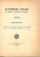 Istoriski atlas za opštu i narodnu istoriju<br />Drugo, popravljeno izdanje
