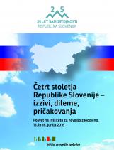 Četrt stoletja Republike Slovenije – izzivi, dileme, pričakovanja<br />Posvet na Inštitutu za novejšo zgodovino, Ljubljana, 15. in 16.06.2016