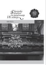 Bilten, 2015, št. 7<br />Slovensko društvo za proučevanje 18. stoletja