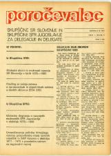 Poročevalec Skupščine SR Slovenije in Skupščine SFR Jugoslavije za delegacije in delegate, 1975, št. 5