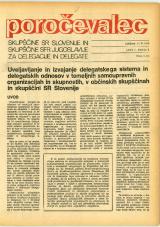 Poročevalec Skupščine SR Slovenije in Skupščine SFR Jugoslavije za delegacije in delegate, 1975, št. 6