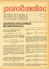 Poročevalec Skupščine SR Slovenije in Skupščine SFR Jugoslavije za delegacije in delegate, 1975, št. 7