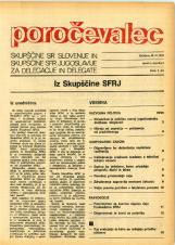 Poročevalec Skupščine SR Slovenije in Skupščine SFR Jugoslavije za delegacije in delegate, 1975, št. 8