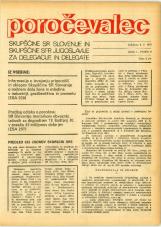 Poročevalec Skupščine SR Slovenije in Skupščine SFR Jugoslavije za delegacije in delegate, 1975, št. 9