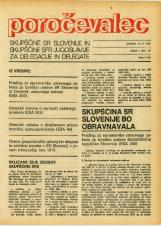 Poročevalec Skupščine SR Slovenije in Skupščine SFR Jugoslavije za delegacije in delegate, 1975, št. 10