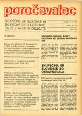 Poročevalec Skupščine SR Slovenije in Skupščine SFR Jugoslavije za delegacije in delegate, 1975, št. 12