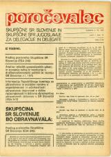 Poročevalec Skupščine SR Slovenije in Skupščine SFR Jugoslavije za delegacije in delegate, 1975, št. 14