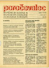 Poročevalec Skupščine SR Slovenije in Skupščine SFR Jugoslavije za delegacije in delegate, 1975, št. 15