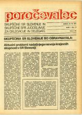 Poročevalec Skupščine SR Slovenije in Skupščine SFR Jugoslavije za delegacije in delegate, 1975, št. 16