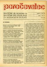 Poročevalec Skupščine SR Slovenije in Skupščine SFR Jugoslavije za delegacije in delegate, 1975, št. 17