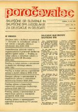 Poročevalec Skupščine SR Slovenije in Skupščine SFR Jugoslavije za delegacije in delegate, 1975, št. 18