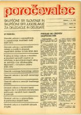 Poročevalec Skupščine SR Slovenije in Skupščine SFR Jugoslavije za delegacije in delegate, 1975, št. 20