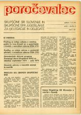 Poročevalec Skupščine SR Slovenije in Skupščine SFR Jugoslavije za delegacije in delegate, 1975, št. 21