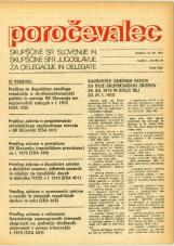 Poročevalec Skupščine SR Slovenije in Skupščine SFR Jugoslavije za delegacije in delegate, 1975, št. 28
