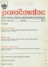 Poročevalec Državnega zbora Republike Slovenije, 1993, št. 1
