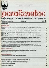 Poročevalec Državnega zbora Republike Slovenije, 1993, št. 2