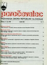 Poročevalec Državnega zbora Republike Slovenije, 1993, št. 11
