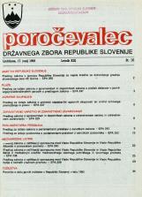 Poročevalec Državnega zbora Republike Slovenije, 1993, št. 16