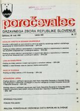 Poročevalec Državnega zbora Republike Slovenije, 1993, št. 17