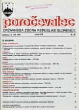 Poročevalec Državnega zbora Republike Slovenije, 1993, št. 20