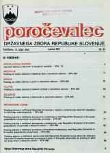Poročevalec Državnega zbora Republike Slovenije, 1993, št. 21
