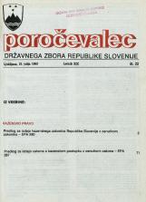 Poročevalec Državnega zbora Republike Slovenije, 1993, št. 22