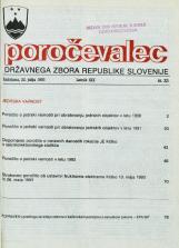 Poročevalec Državnega zbora Republike Slovenije, 1993, št. 23