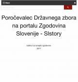 Poročevalec Državnega zbora na portalu Zgodovina Slovenije - SIstory