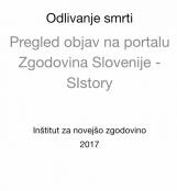 Odlivanje smrti<br />Pregled objav na portalu Zgodovina Slovenije - SIstory