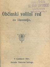 Občinski volilni red za Slovenijo