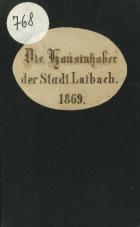 Die Hausinhaber der Stadt Laibach