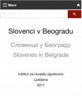 Slovenci v Beogradu<br />Slovenes in Belgrade<br />Словенци у Београду