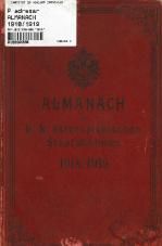 Almanach der k.k. österreichischen Staatsbahnen 1918/1919 (XXXIX. Jahrgang)