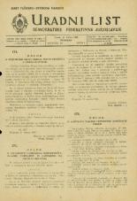 Uradni list Demokratske federativne Jugoslavije, 1945, št. 16