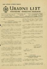 Uradni list Demokratske federativne Jugoslavije, 1945, št. 17