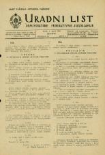 Uradni list Demokratske federativne Jugoslavije, 1945, št. 18