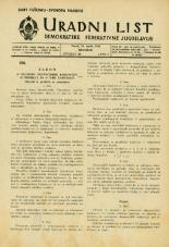 Uradni list Demokratske federativne Jugoslavije, 1945, št. 20