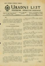 Uradni list Demokratske federativne Jugoslavije, 1945, št. 21