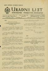 Uradni list Demokratske federativne Jugoslavije, 1945, št. 22
