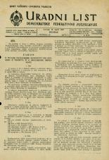 Uradni list Demokratske federativne Jugoslavije, 1945, št. 23