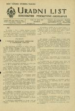 Uradni list Demokratske federativne Jugoslavije, 1945, št. 26