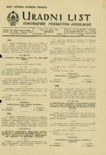 Uradni list Demokratske federativne Jugoslavije, 1945, št. 27