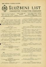 Uradni list Demokratske federativne Jugoslavije, 1945, št. 28