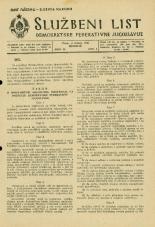 Uradni list Demokratske federativne Jugoslavije, 1945, št. 29