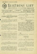 Uradni list Demokratske federativne Jugoslavije, 1945, št. 30