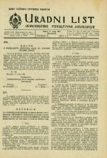Uradni list Demokratske federativne Jugoslavije, 1945, št. 31