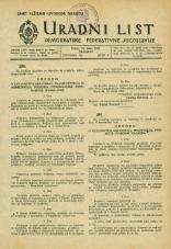 Uradni list Demokratske federativne Jugoslavije, 1945, št. 33