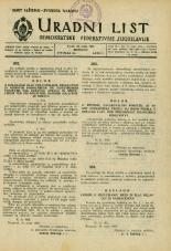 Uradni list Demokratske federativne Jugoslavije, 1945, št. 34