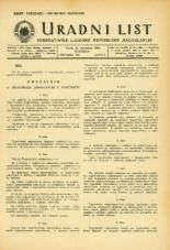 Uradni list Federativne ljudske republike Jugoslavije, 1945, št. 100